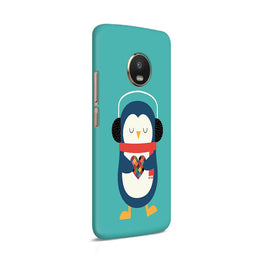 Cute Penguin Fall In Love Moto G5 Plus Mobile Cover Case