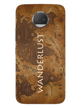 Wanderlust Traveller Globe Trotter Moto G5S Plus Mobile Cover Case