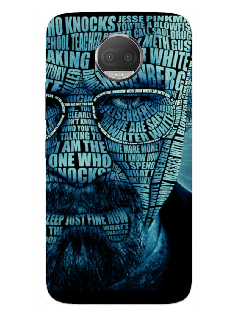 Heisenberg Typography Moto G5S Plus Mobile Cover Case