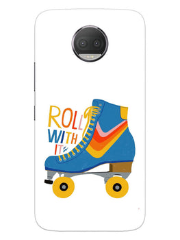 Roller Skate Play With Fun Moto G5S Plus Mobile Cover Case
