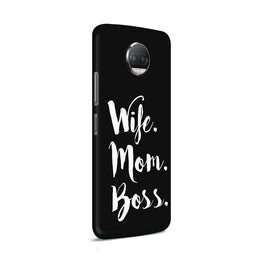 Wife Mom Boss Typography Moto G5S Plus Mobile Cover Case