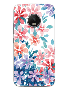 Floral Art Moto G5 Mobile Cover Case