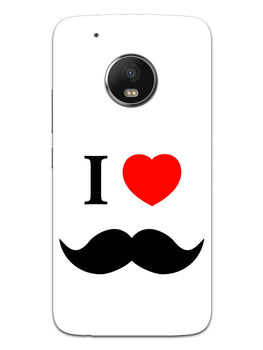 I Love Mustache Style Moto G5 Mobile Cover Case