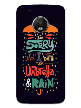 Umbrella And Rain Rainny Quote Moto G5 Mobile Cover Case