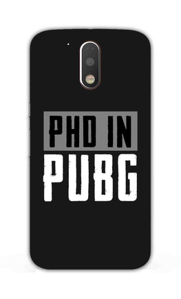 PHD In Pubg Typography For Game Lovers Moto G4  Mobile Cover Case
