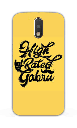 High Rated Gabru Song Typography Moto G4 Mobile Cover Case