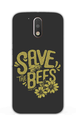 Save The Bees Motivation Quote Moto G4 Plus Mobile Cover Case