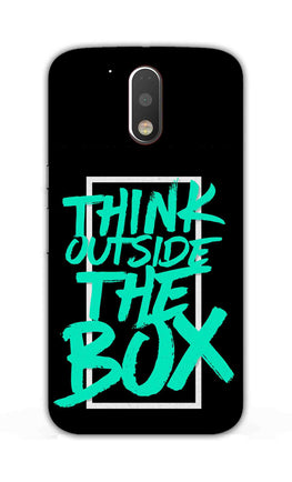 Think Outside The Box Motivation Quote Moto G4 Plus Mobile Cover Case