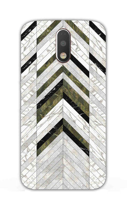 Marble Strips Line Pattern Geometric Art Moto G4 Plus Mobile Cover Case