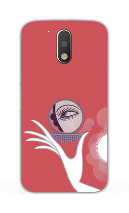 Mirror On Hand Art So Girly Pattern Moto G4 Plus Mobile Cover Case