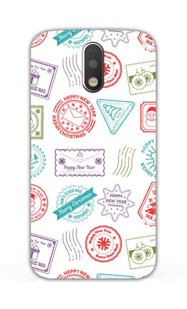 Stampes Pattern Everywhere White  Moto G4 Plus Mobile Cover Case