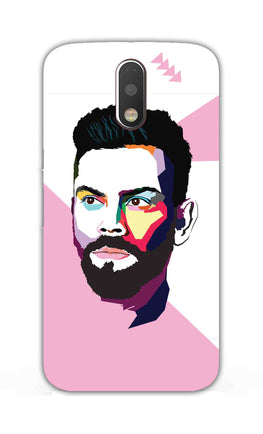 Virat Koli Art For Kohli Cricket Lovers Moto G4 Plus Mobile Cover Case