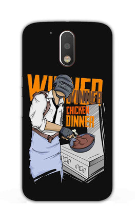 Man Making Chicken Dinner For Game Lovers Moto G4 Plus Mobile Cover Case
