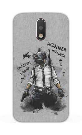 Winner Winner Chicken Dinner Typography Art Moto G4 Plus Mobile Cover Case