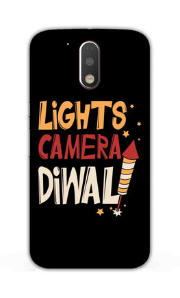 Lights Camera Diwali Enjoy Festival Of Light Moto G4 Plus Mobile Cover Case