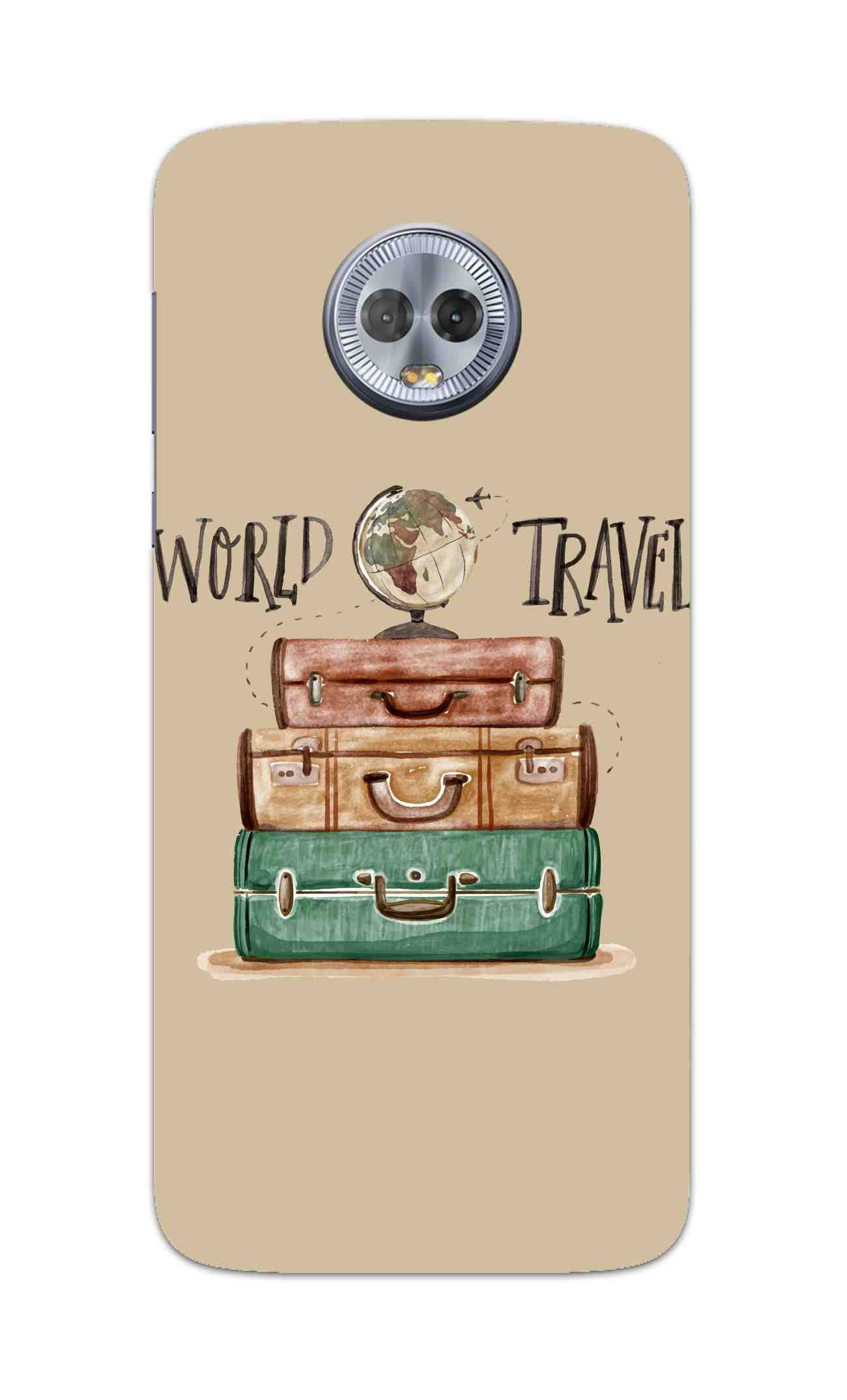 Travel World With Bags For Travellers Moto G6 Mobile Cover Case - MADANYU