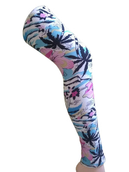 Premium Super Soft Stretchable Free Size Multi Color Beach Floral Printed Leggings for Women