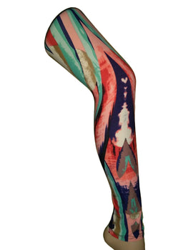 Premium Super Soft Stretchable Free Size Multi Color Abstract Printed Leggings for Women