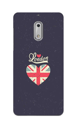 I Love London Typography Art For Artist Nokia 6 Mobile Cover Case