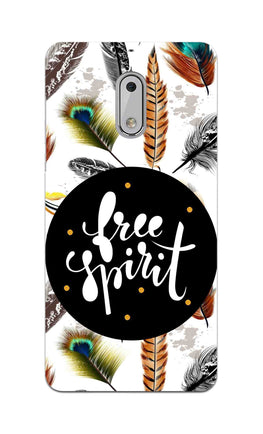 Free Spirit Colorful Feathers Pattern Nokia 6 Mobile Cover Case