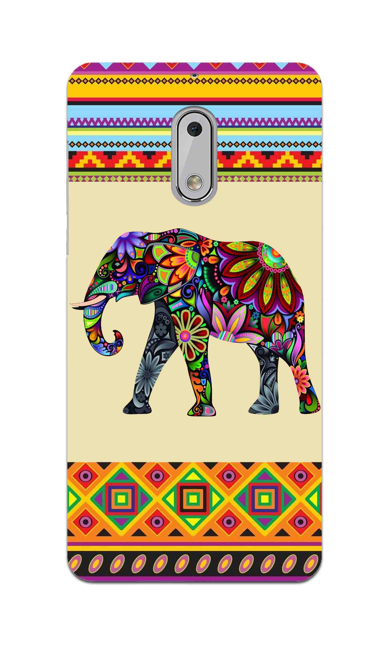Colorful Elephant Azetec Pattern  Nokia 6 Mobile Cover Case