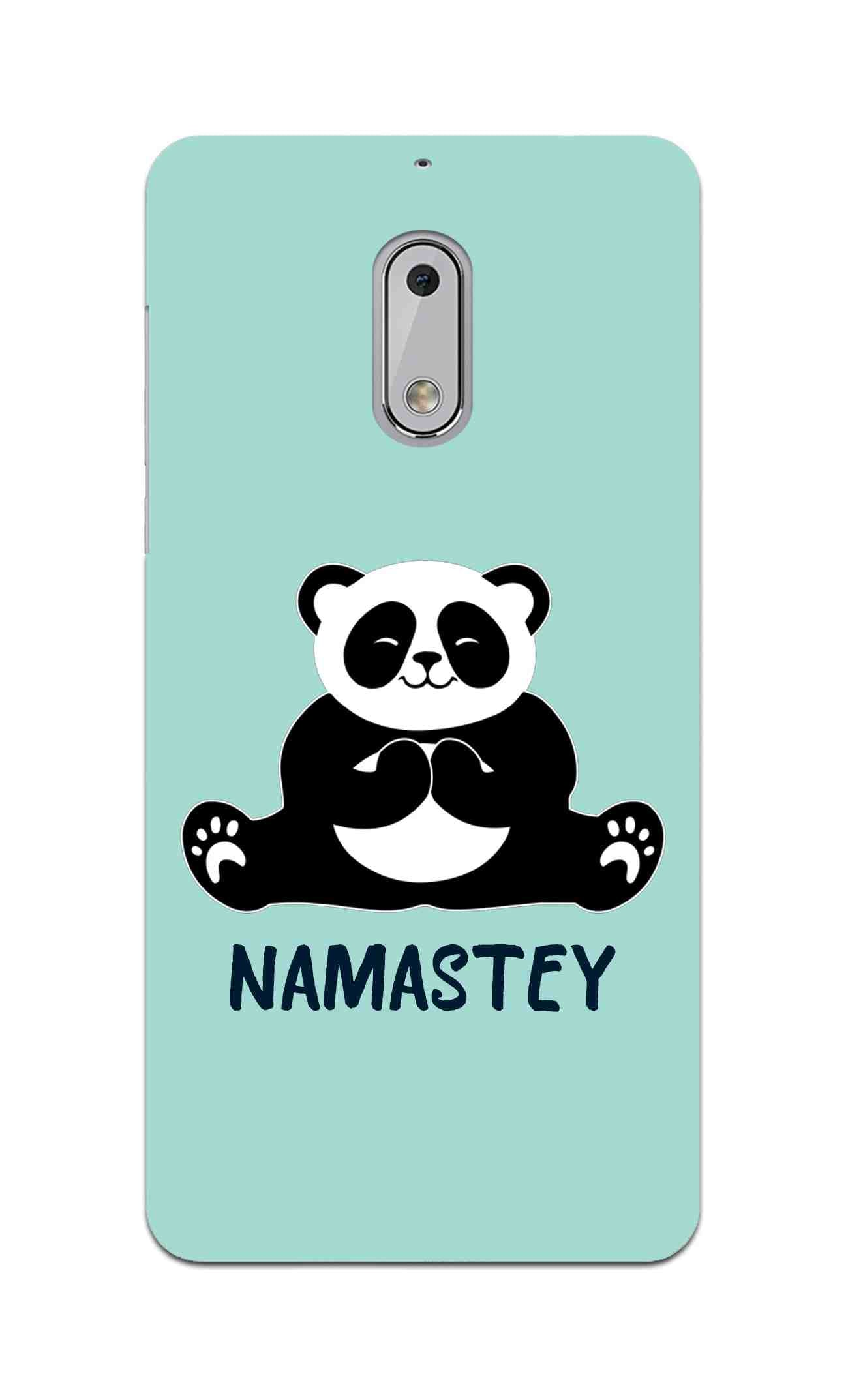 Cute Panda Seying Namastey For Animal Lovers Nokia 6 Mobile Cover Case