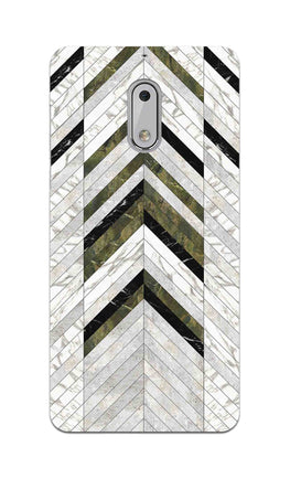 Marble Strips Line Pattern Geometric Art Nokia 6 Mobile Cover Case