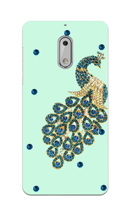 Beautiful Peacock Stone Art  Nokia 6 Mobile Cover Case