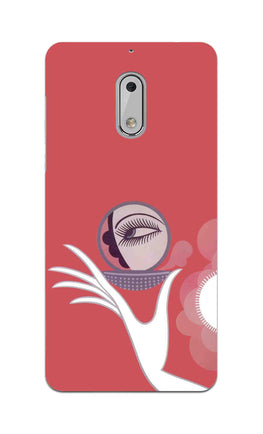 Mirror On Hand Art So Girly Pattern Nokia 6 Mobile Cover Case