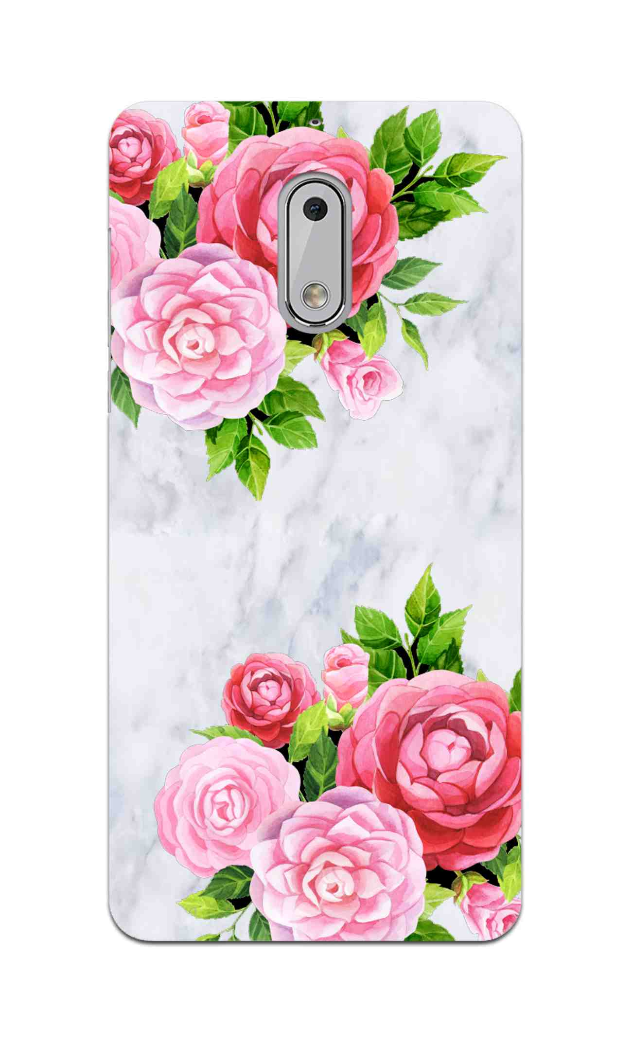 Pink Roses Floral Marble So Girly Nokia 6 Mobile Cover Case