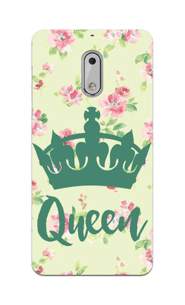 Floral Queen Pattern So Girly Nokia 6 Mobile Cover Case