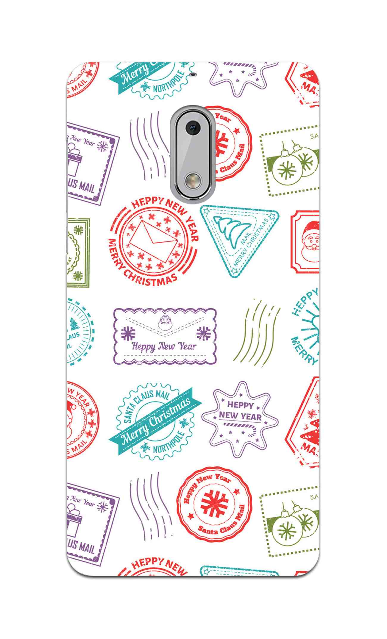 Stampes Pattern Everywhere White  Nokia 6 Mobile Cover Case
