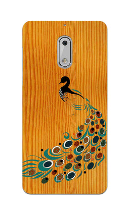 Peacock On Wood So Girly Pattern Nokia 6 Mobile Cover Case
