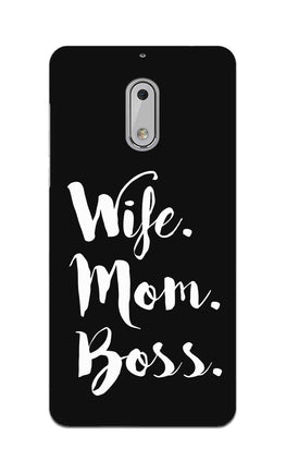 Wife Mom Boss Typography Nokia 6 Mobile Cover Case
