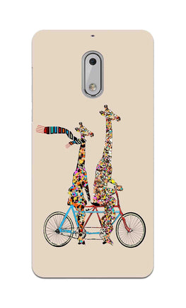 Giraffe Cycling Enjoy Life Funny For Animal Lovers Nokia 6 Mobile Cover Case