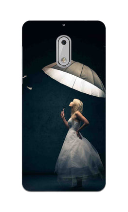 Girl With Umbrella So Girly  Nokia 6 Mobile Cover Case