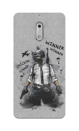 Winner Winner Chicken Dinner Typography Art Nokia 6 Mobile Cover Case