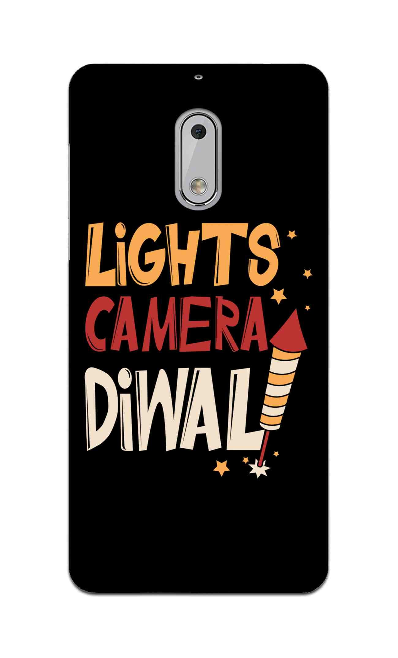 Lights Camera Diwali Enjoy Festival Of Light Nokia 6 Mobile Cover Case
