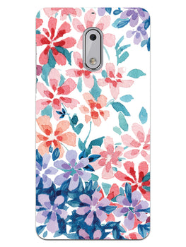 Floral Art Nokia 6 Mobile Cover Case