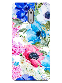 Hand Painted Floral Nokia 6 Mobile Cover Case