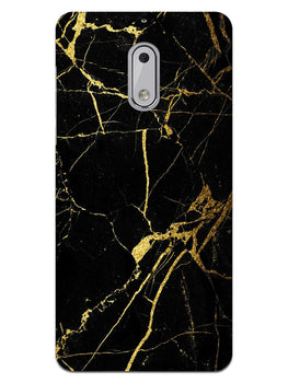 Classy Black Marble Nokia 6 Mobile Cover Case