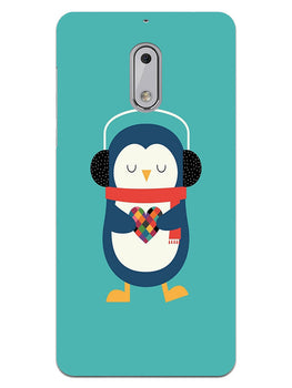 Cute Penguin Fall In Love Nokia 6 Mobile Cover Case
