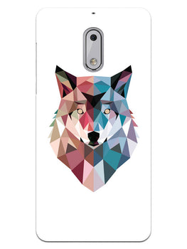 Geometric Wolf Poly Art Nokia 6 Mobile Cover Case