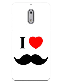 I Love Mustache Style Nokia 6 Mobile Cover Case