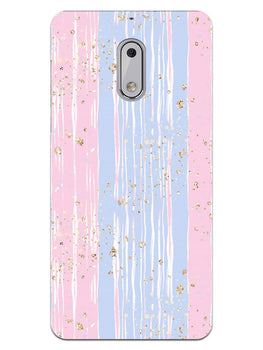 Pink And Blue Shade Lines Nokia 6 Mobile Cover Case