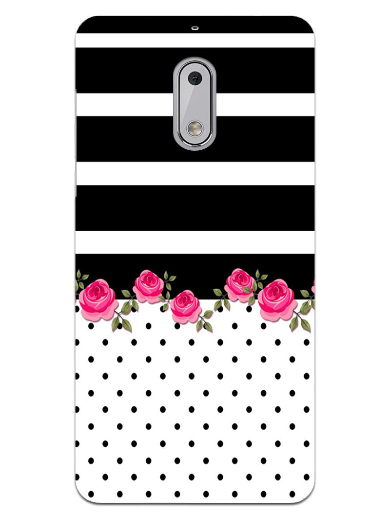 Rose Polka Stripes Nokia 6 Mobile Cover Case