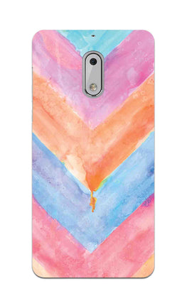 WaterColor Chevron Pattern Nokia 6 Mobile Cover Case