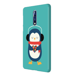 Cute Penguin Fall In Love Nokia 8 Mobile Cover Case