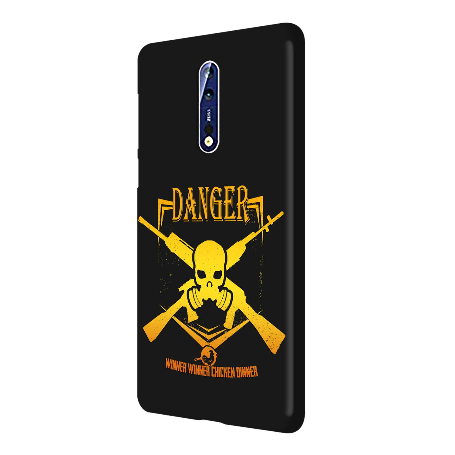 Danger Gun Sign Typography Nokia 8 Mobile Cover Case