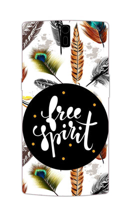 Free Spirit Colorful Feathers Pattern OnePlus 1 Mobile Cover Case